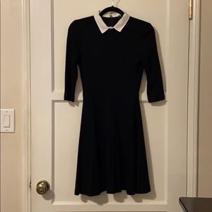 French connection black collared dress size 0